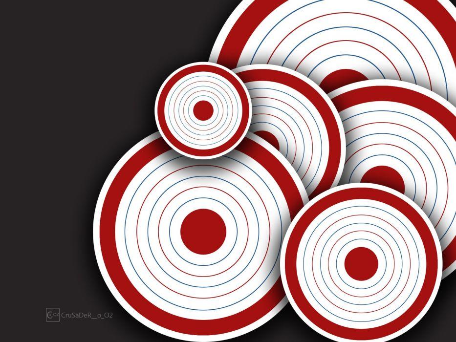 abstract circles target wallpaper