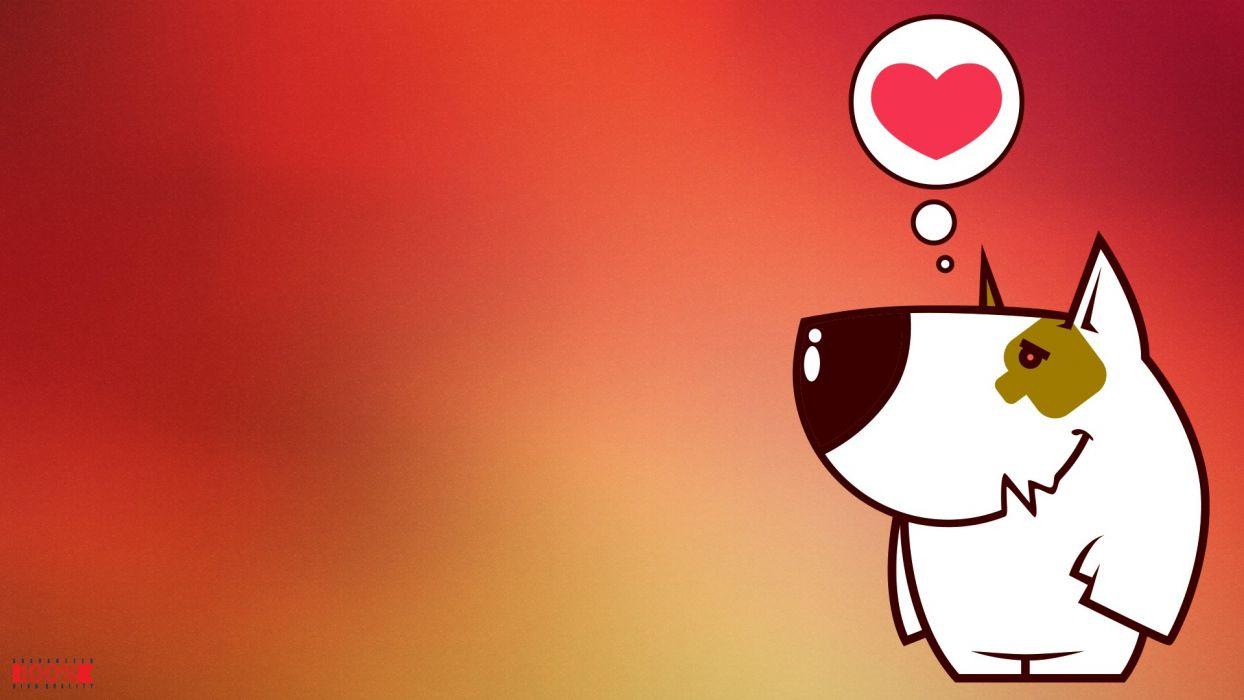 cartoons love animals hearts wallpaper