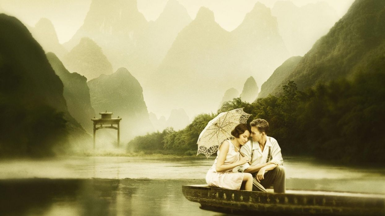 movies Edward Norton boats Naomi Watts lovers lakes umbrellas movie posters The Painted Veil wallpaper