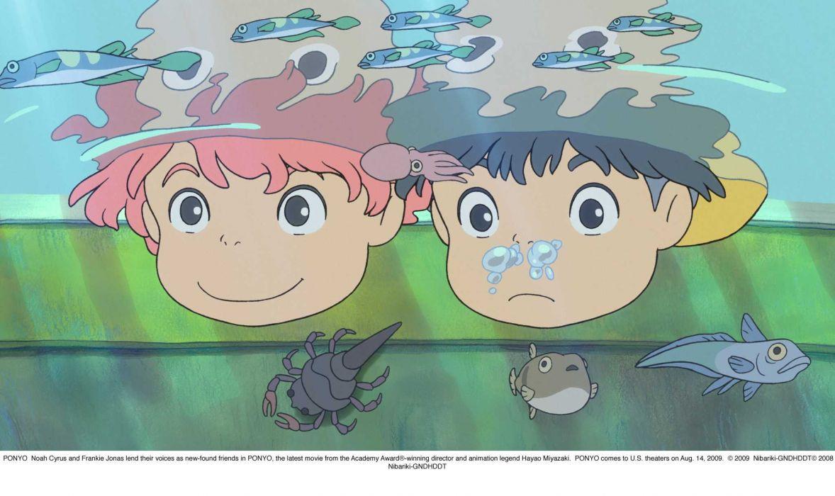 Ponyo Gake no ue no ponyo wallpaper