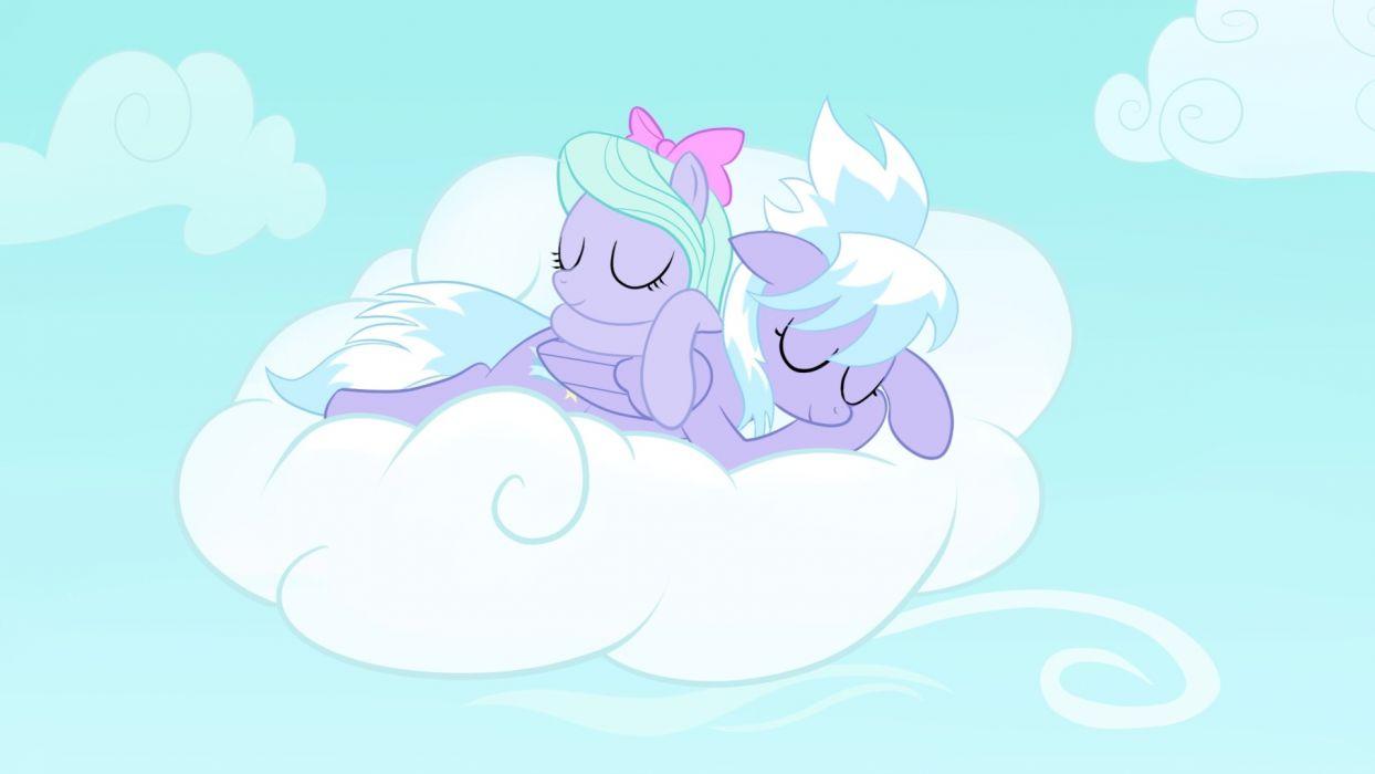 sleeping ponies My Little Pony: Friendship is Magic Cloudchaser Flitter wallpaper