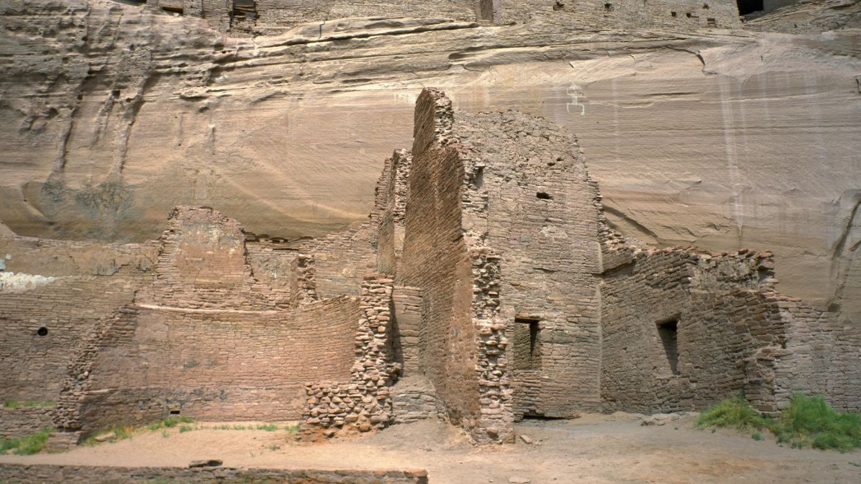 ruins canyon cliffs Arizona national White House wallpaper