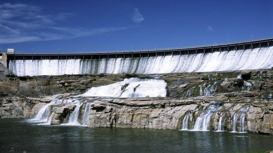 waterfalls rivers Montana wallpaper