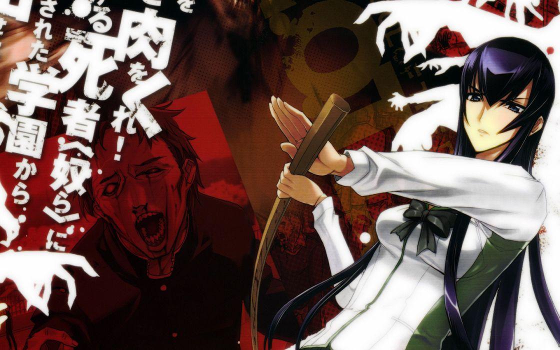 Highschool of the Dead Busujima Saeko anime wallpaper