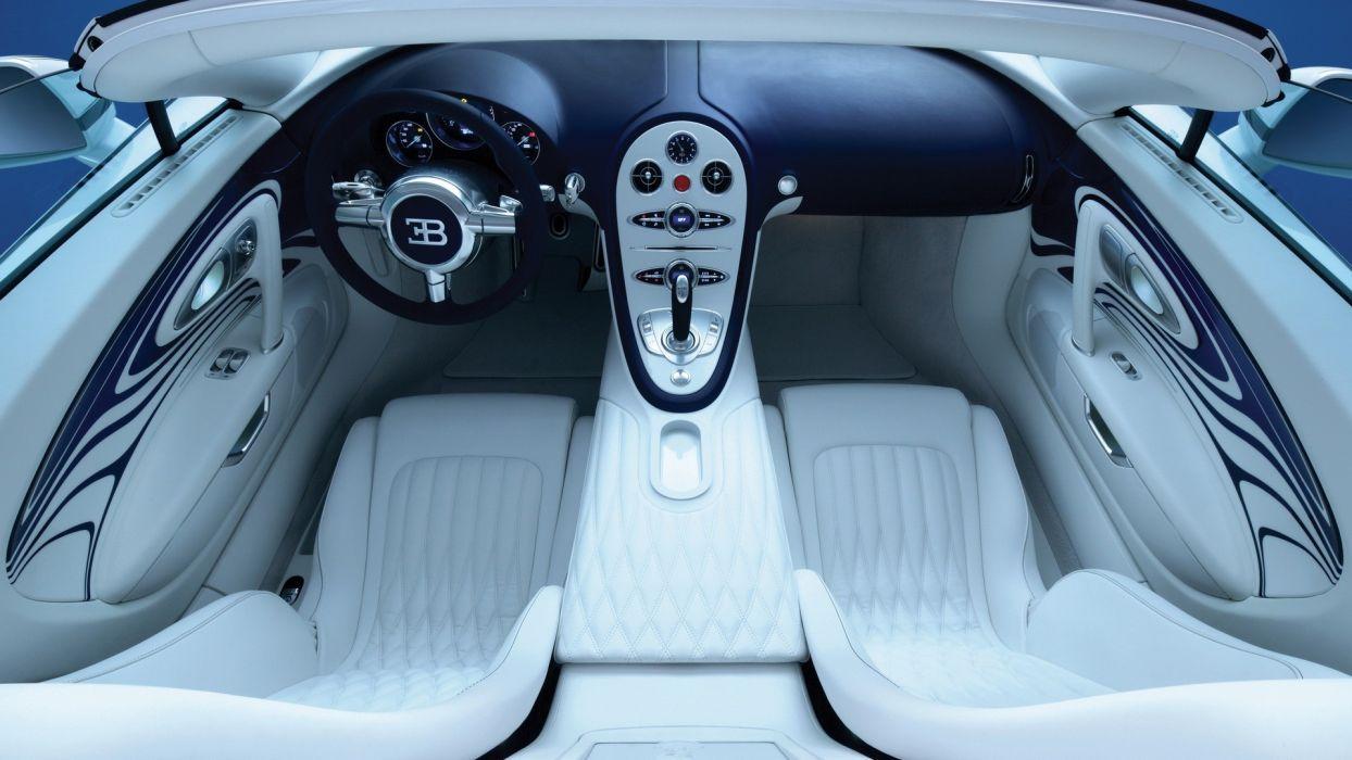 Bugatti Veyron car interiors Bugatti Veyron Grand Sport wallpaper