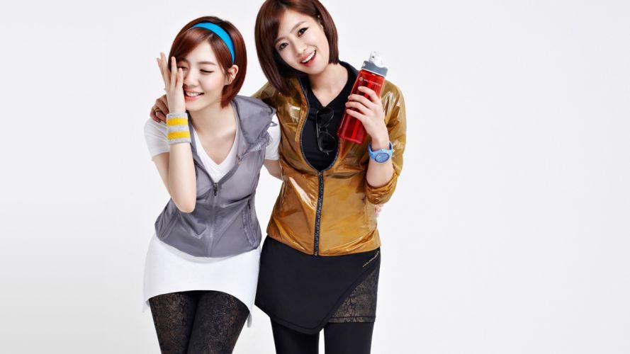 women models Asians T-ara Eunjung Hwayoung wallpaper