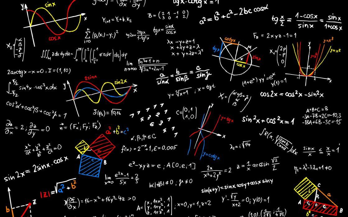 text typography mathematics board formulas wallpaper