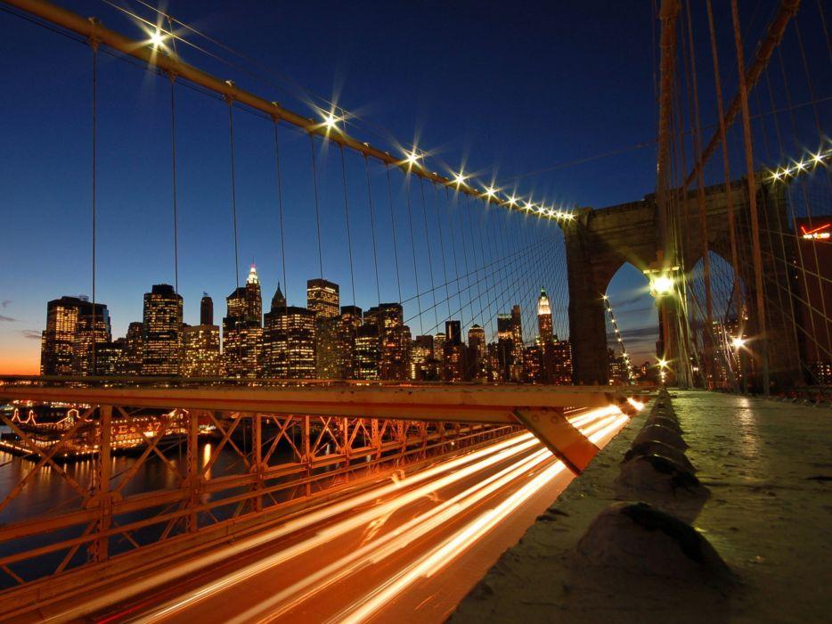 cityscapes lights bridges wallpaper