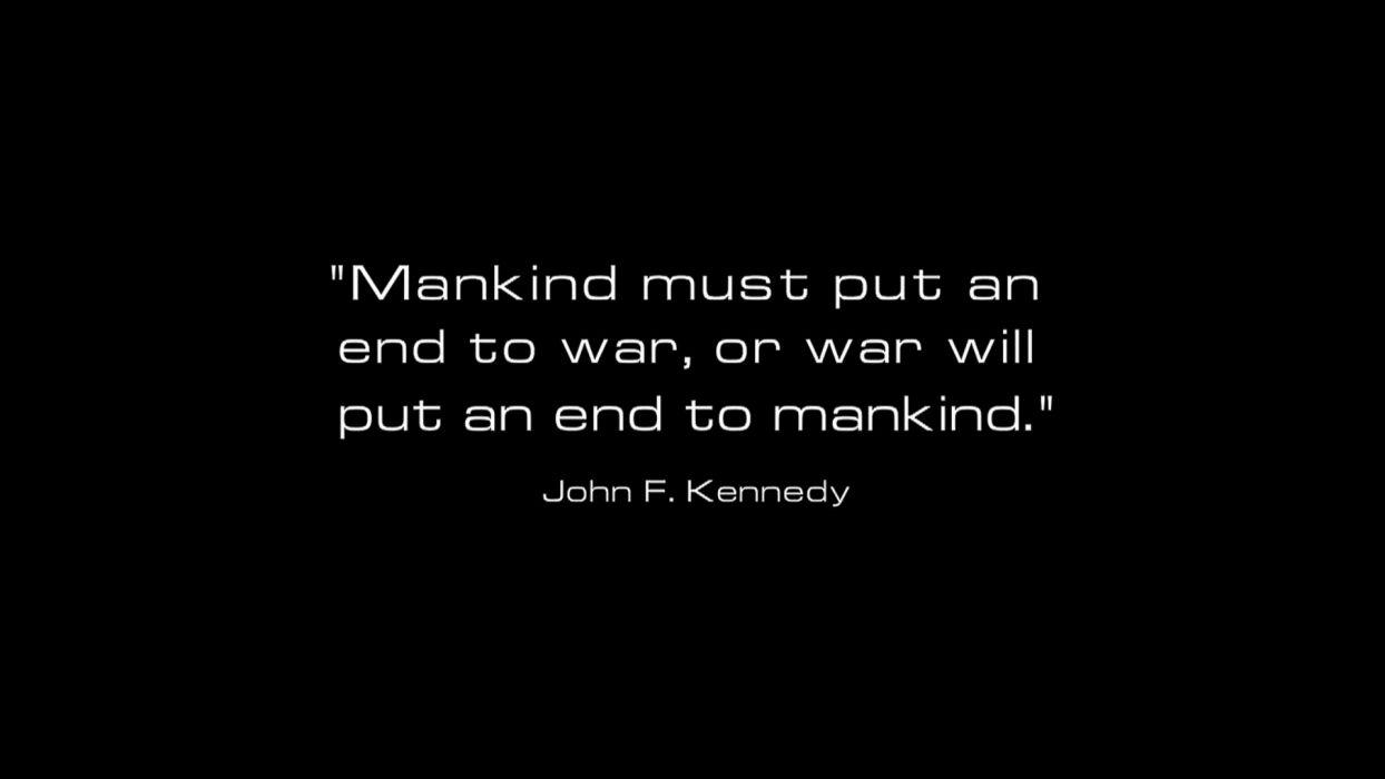 war quotes USA presidents mankind philosophy John F_ Kennedy wallpaper