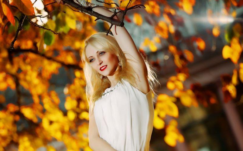 women autumn wallpaper