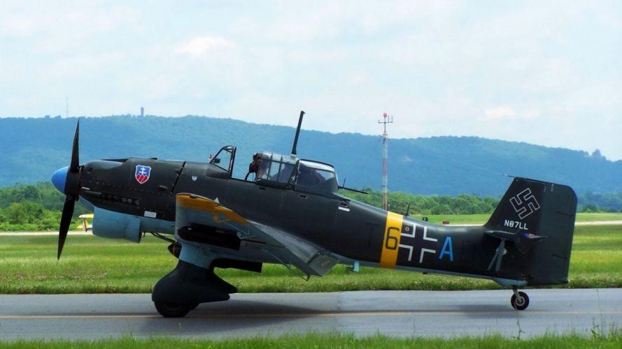 aircraft Stuka Junkers Ju 87 wallpaper