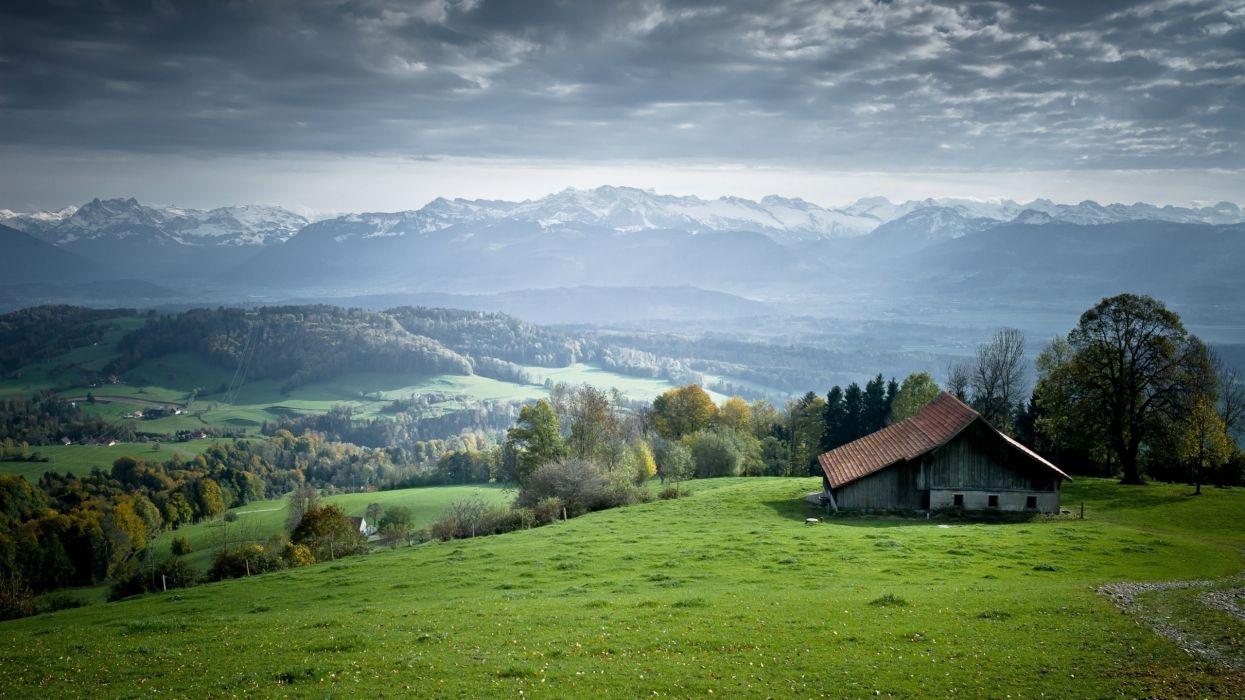 landscapes house wallpaper