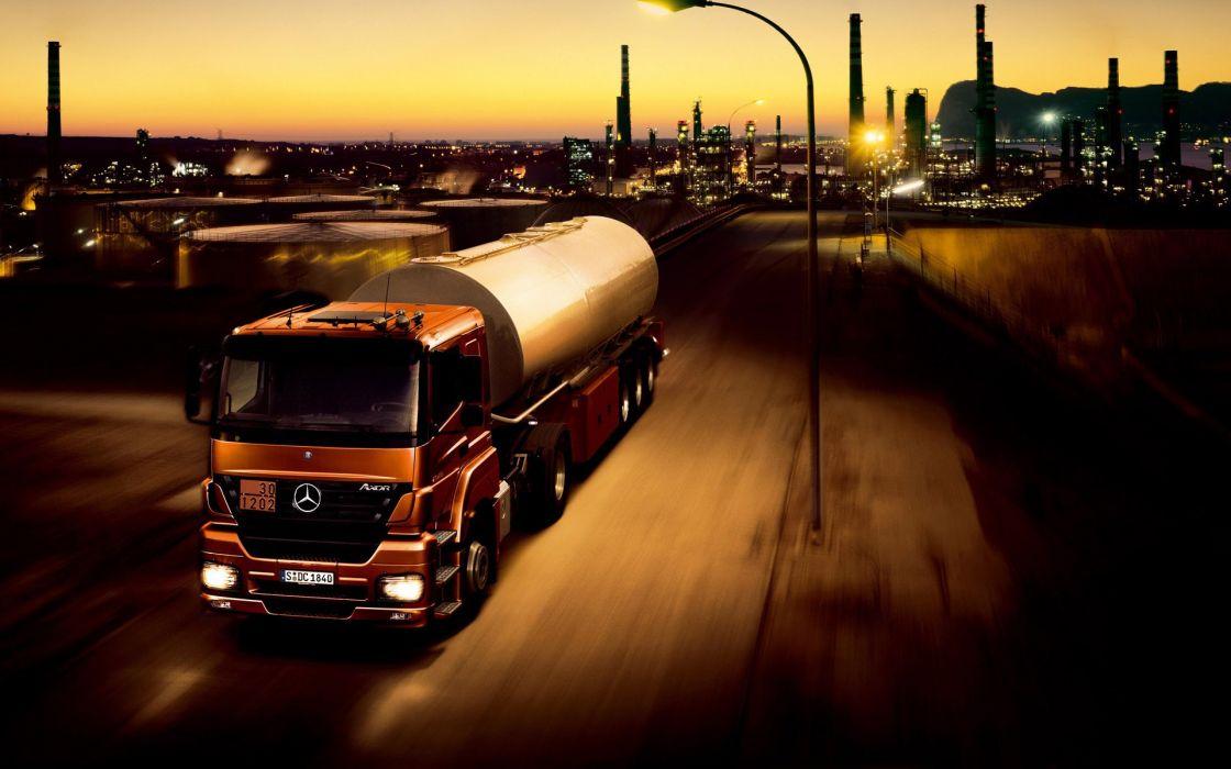 trucks tankers vehicles Mercedes-Benz wallpaper