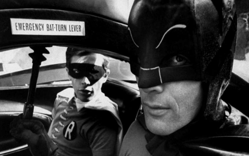 Batman Robin superheroes grayscale TV series wallpaper