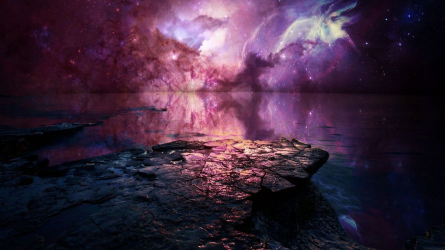 outer space stars fantasy art wallpaper