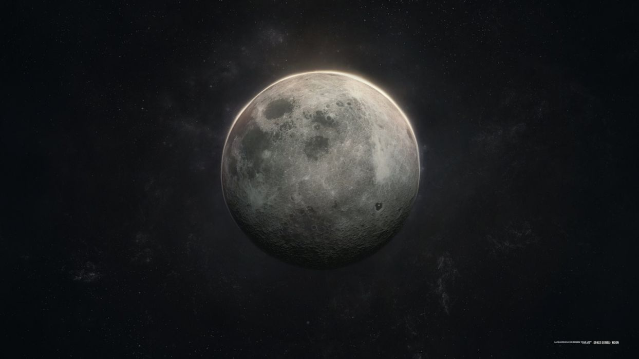 Moon series space lacza wallpaper