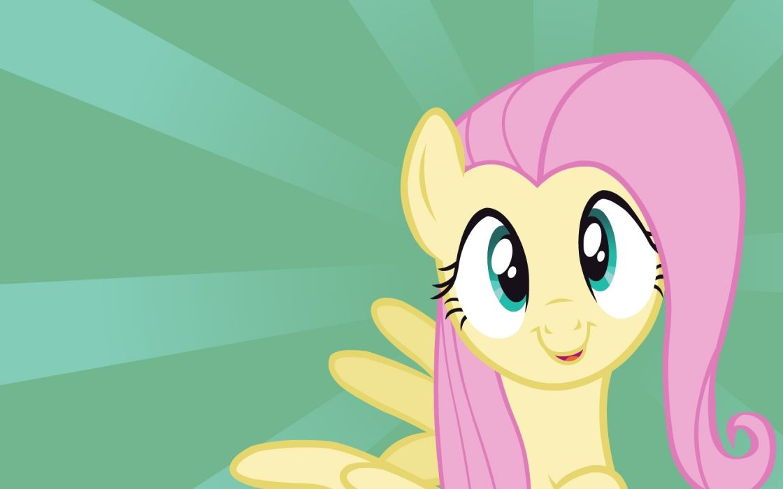pegasus My Little Pony Fluttershy Bronies green background My Little Pony: Friendship is Magic wallpaper