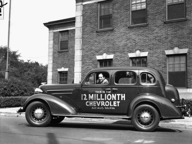1936 Chevrolet Master DeLuxe 4-door Sport Sedan (F-D) retro poster g wallpaper