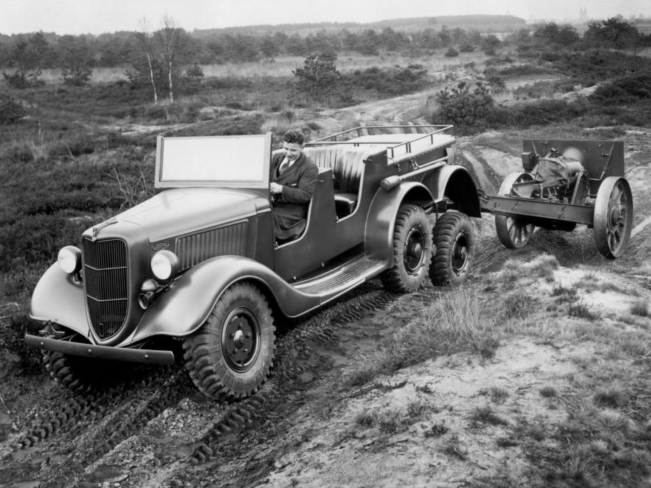1936 Ford V-8 6x4 (5-1) military retro       g wallpaper