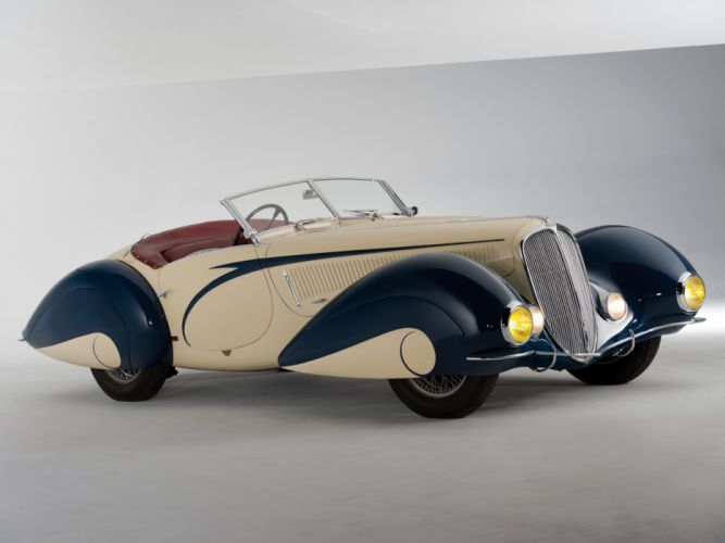 1937 Delahaye 135 M Cabriolet Figoni Falaschi retro supercar r wallpaper