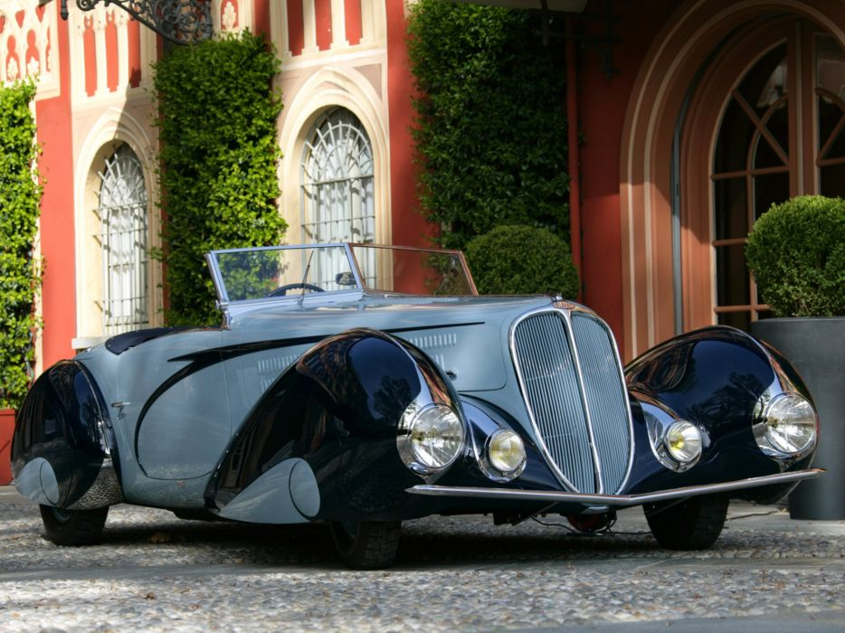 1937 Delahaye 135 M Cabriolet Figoni Falaschi retro supercar  f wallpaper