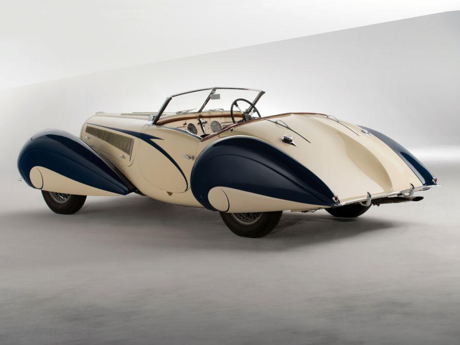 1937 Delahaye 135 M Cabriolet Figoni Falaschi retro supercar  e wallpaper