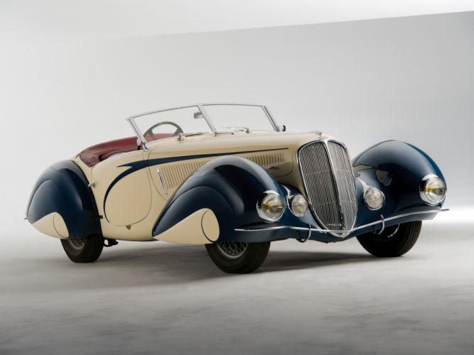 1937 Delahaye 135 M Cabriolet Figoni Falaschi retro supercar t wallpaper