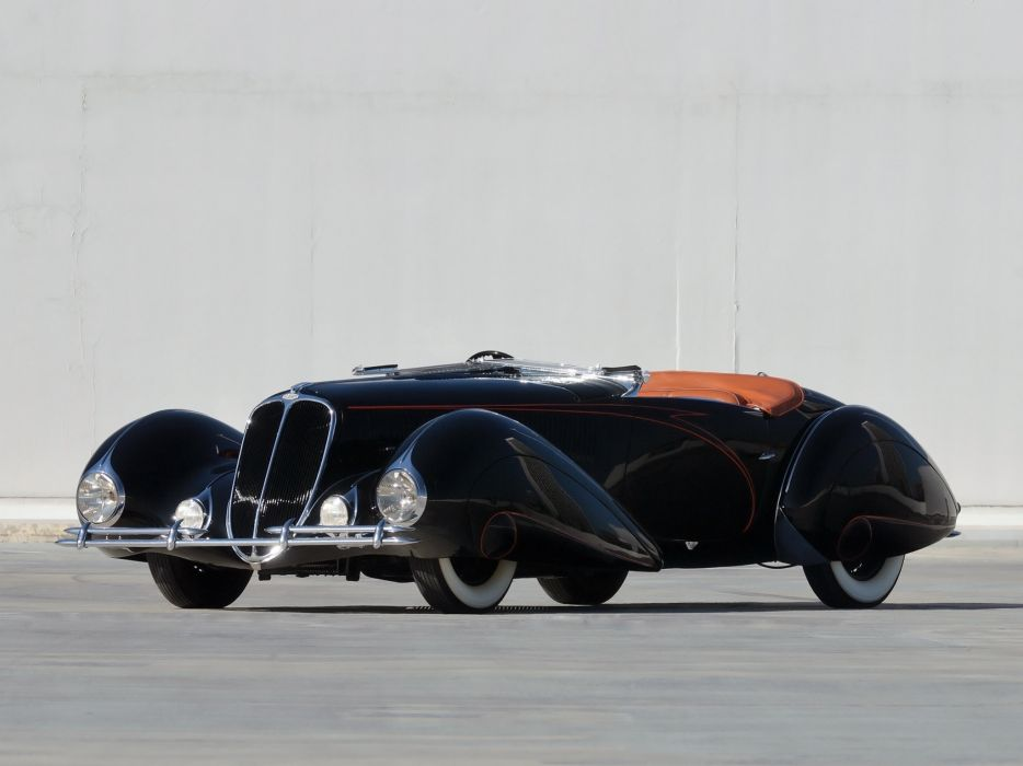 1937 Delahaye 135 M Cabriolet Figoni Falaschi retro supercar       g wallpaper