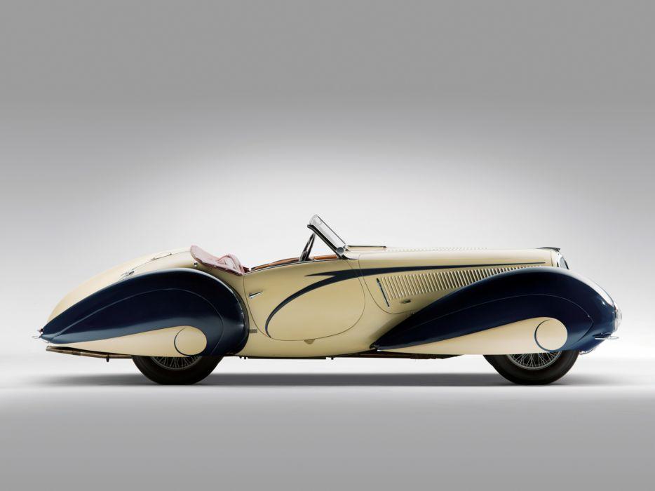 1937 Delahaye 135 M Cabriolet Figoni Falaschi retro        g wallpaper
