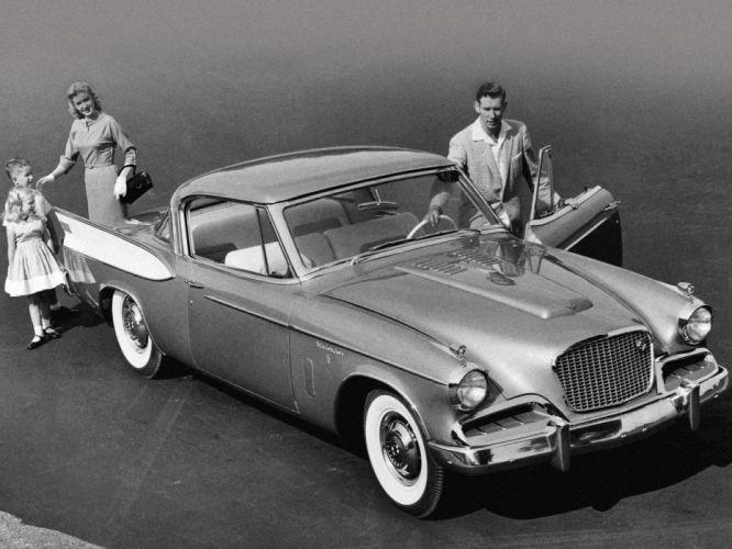 1957 Studebaker Golden Hawk retro r wallpaper