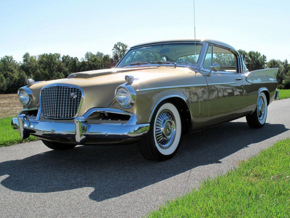 1957 Studebaker Golden Hawk retro  gs wallpaper