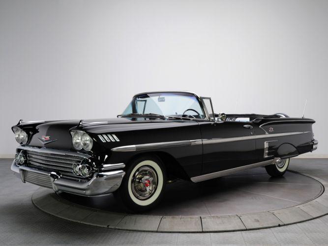1958 Chevrolet Bel Air Impala 348 Super Turbo-Thrust Tri-Power Convertible retro y wallpaper