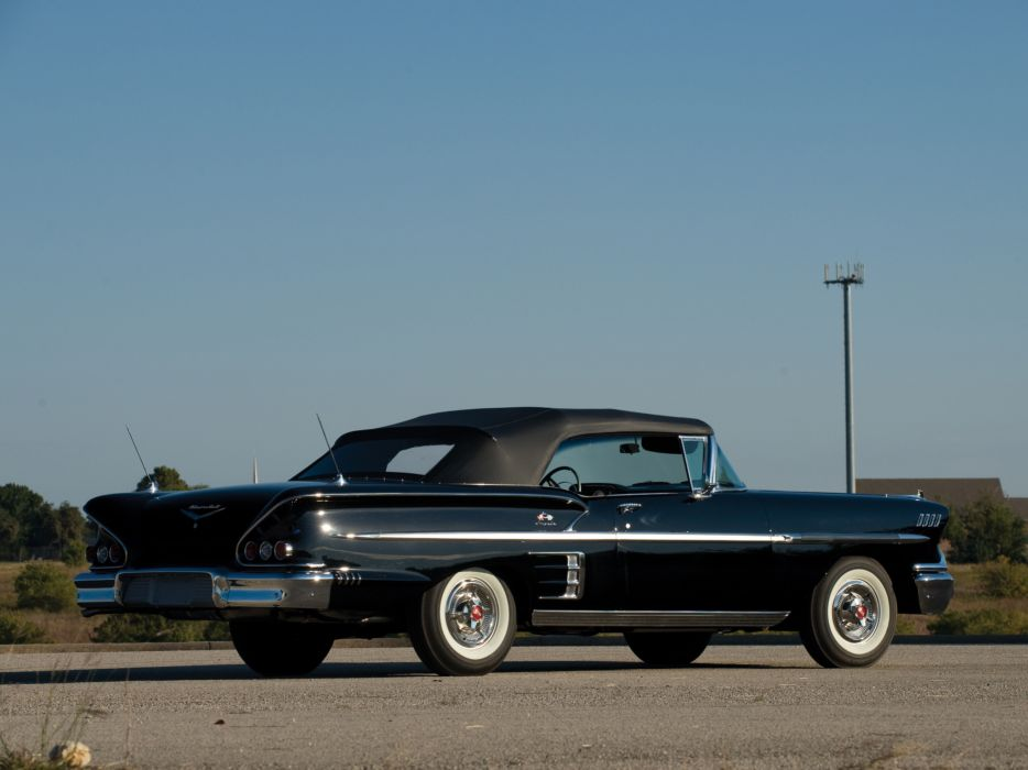 1958 Chevrolet Bel Air Impala 348 Super Turbo-Thrust Tri-Power Convertible retro h wallpaper