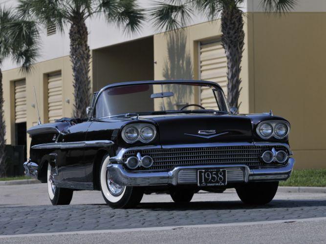 1958 Chevrolet Bel Air Impala 348 Super Turbo-Thrust Tri-Power Convertible retro j wallpaper