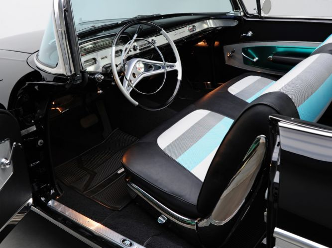 1958 Chevrolet Bel Air Impala 348 Super Turbo-Thrust Tri-Power Convertible retro muscle interior h wallpaper
