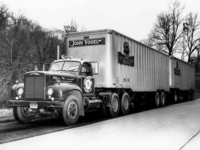 1958 Mack B77 semi tractor g wallpaper
