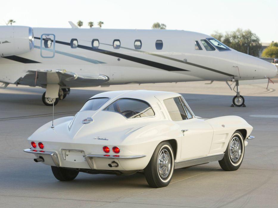 1963 Chevrolet Corvette StingRay L76 327 340HP (C-2) muscle classic supercar jet      g wallpaper