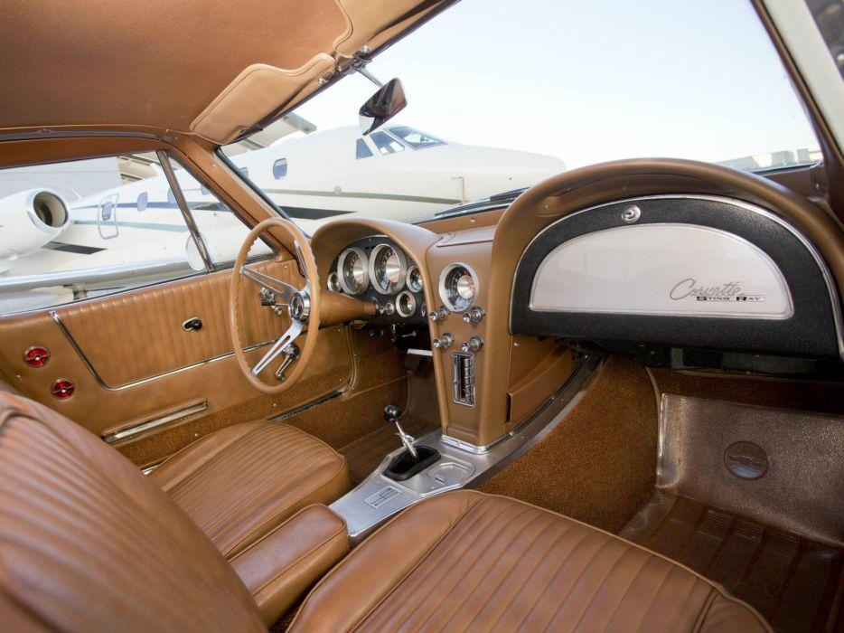1963 Chevrolet Corvette StingRay L76 327 340HP (C-2) muscle classic supercar interior      g wallpaper