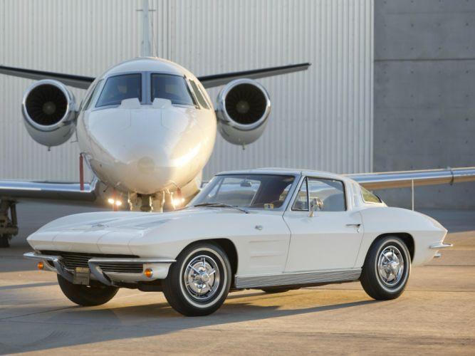 Chevrolet Muscle Car >> 1963 Chevrolet Corvette StingRay L76 327 340HP (C-2) muscle classic supercar jet h wallpaper ...