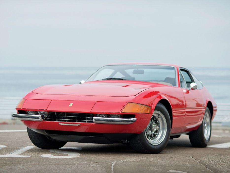1971 Ferrari 365 GTB4 Daytona US-spec supercar classic        f wallpaper