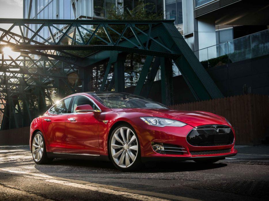 2012 Tesla Model-S supercar     f wallpaper