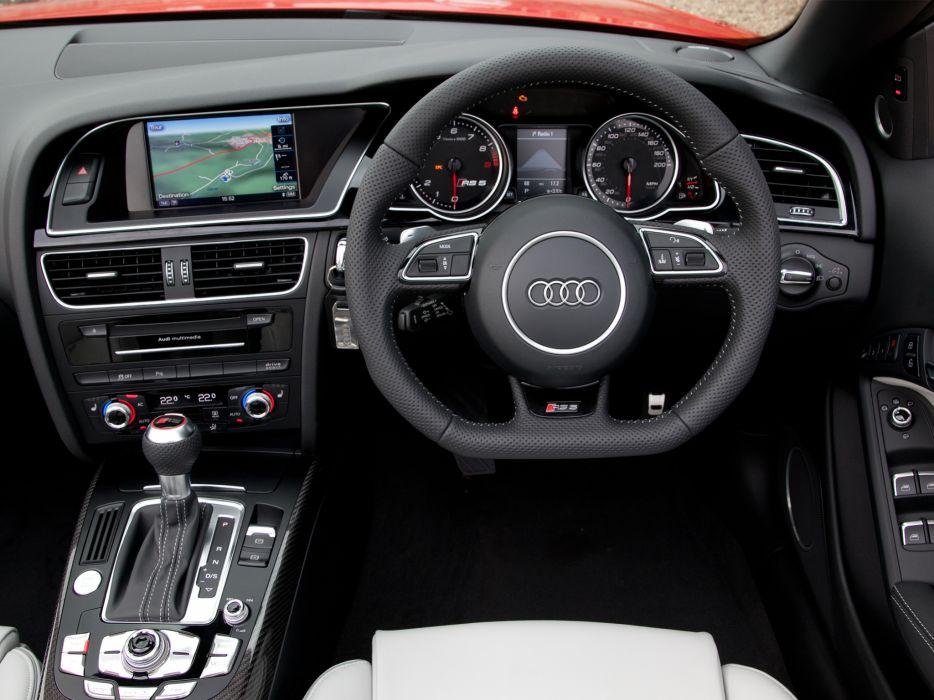 2013 Audi RS5 Cabriolet UK-spec interior       h wallpaper