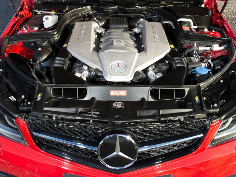 2013 Mercedes Benz C63 AMG Edition-507 UK-spec (W204) engine    h wallpaper