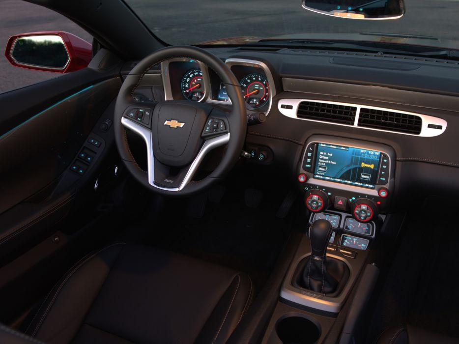 2014 Chevrolet Camaro S-S Convertible muscle intetior     h wallpaper