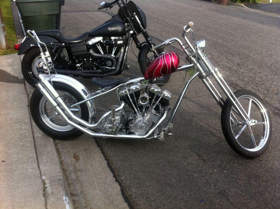 CUSTOM CHOPPER motorbike tuning bike hot rod rods    js wallpaper