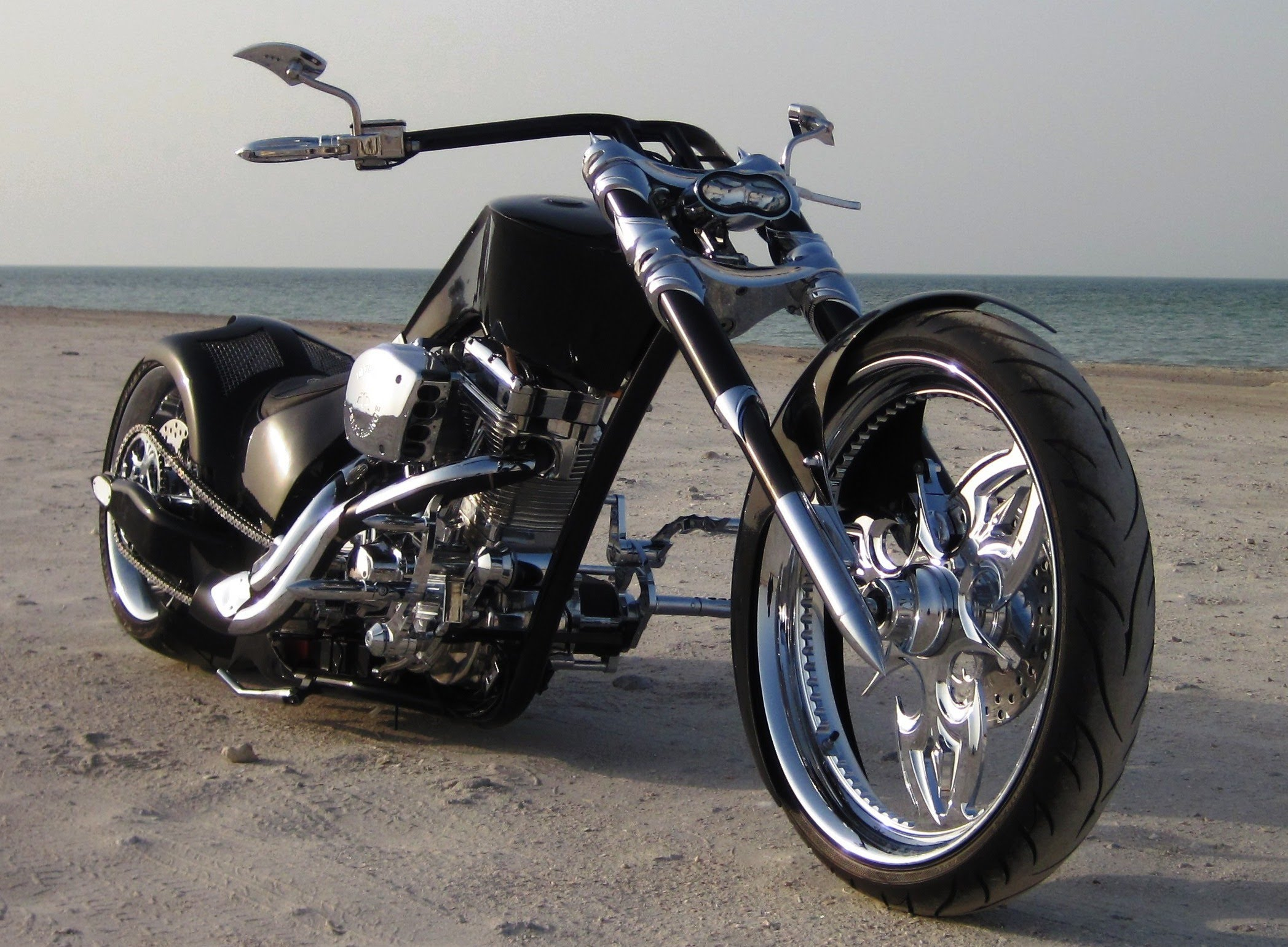 CUSTOM CHOPPER motorbike tuning bike hot rod rods e ...