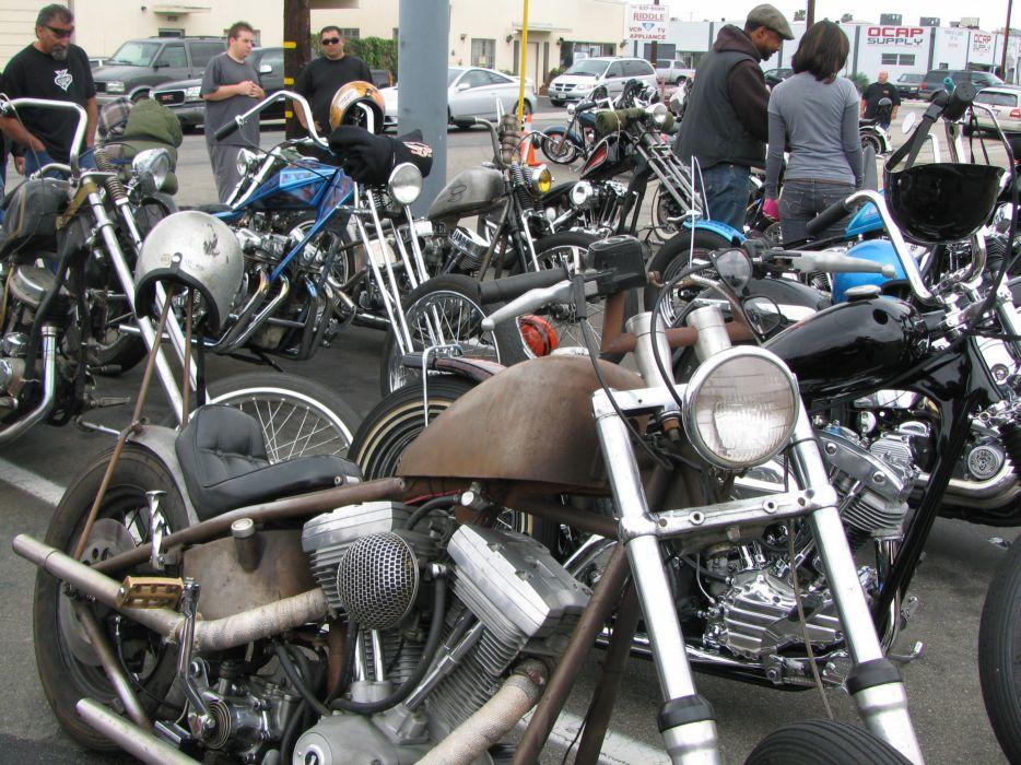 CUSTOM CHOPPER motorbike tuning bike hot rod rods   hw wallpaper