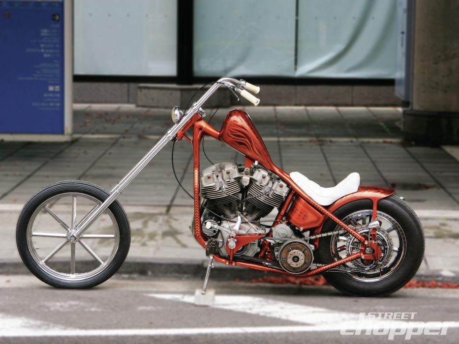 CUSTOM CHOPPER motorbike tuning bike hot rod rods   fs wallpaper