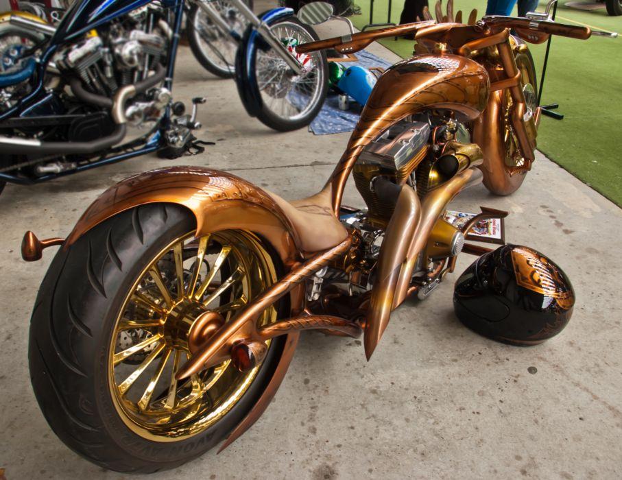 CUSTOM CHOPPER motorbike tuning bike hot rod rods   gd wallpaper