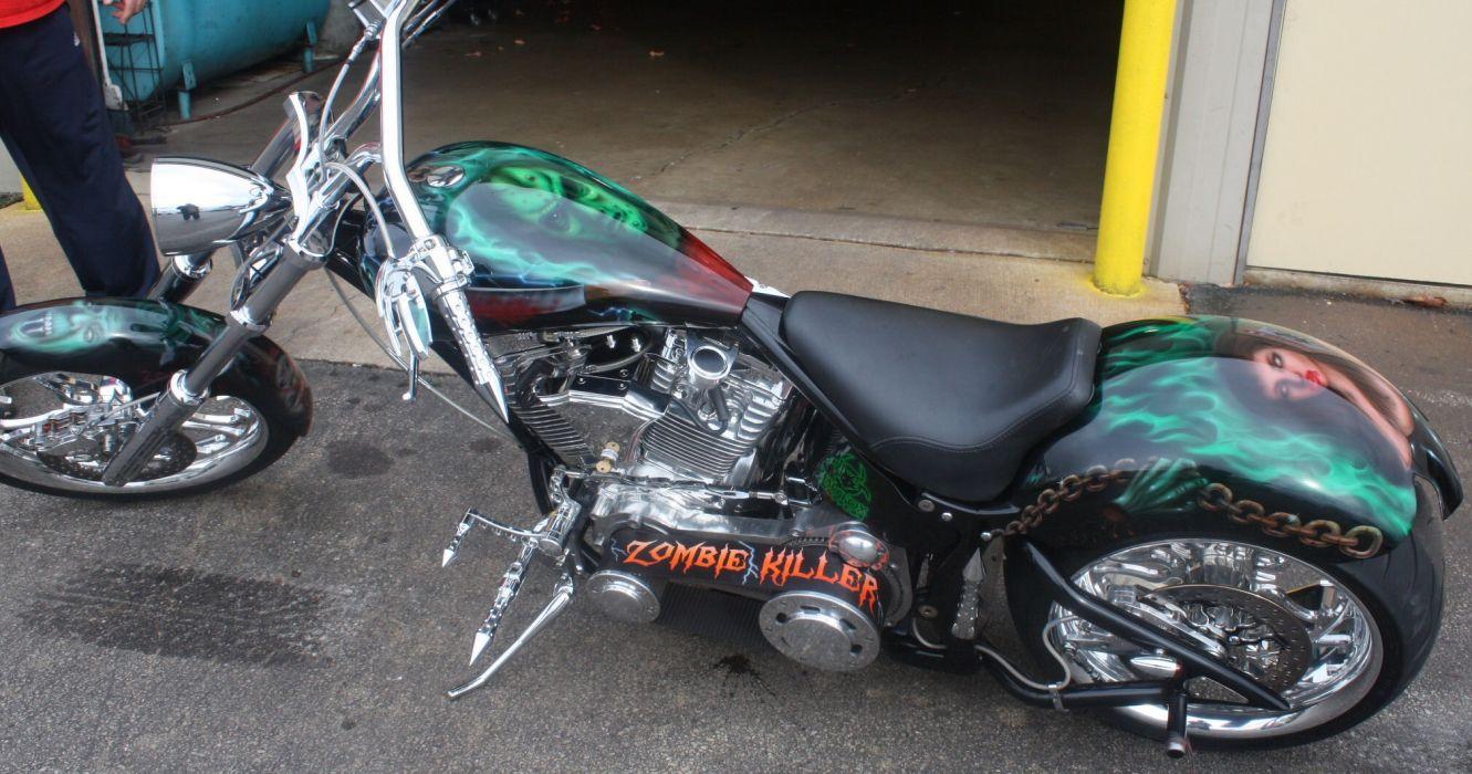 CUSTOM CHOPPER motorbike tuning bike hot rod rods   t wallpaper
